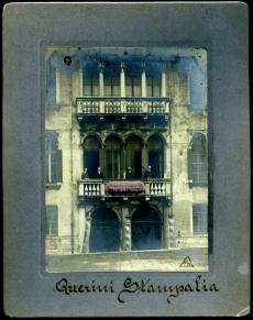 Fa�ade of the Querini Palace, early 20th century