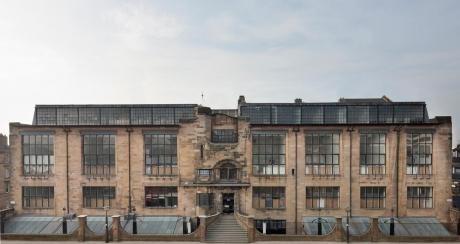 The Library of  Glasgow School of Art (GSA) of Charles Rennie Mackintosh