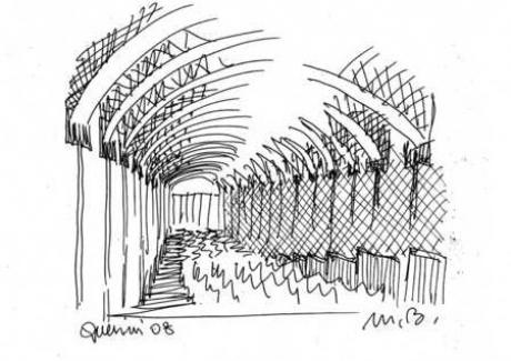 Progetto Auditorium, schizzo preliminare