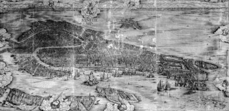 Pianta prospettica di Venezia