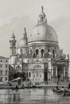 La Salute, da \'Venezia monumentale e pittoresca\'_ le chiese, 1863