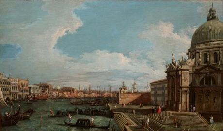 Il Canal Grande verso il bacino di San Marco... post 1742. Collezione Intesa Sanpaolo