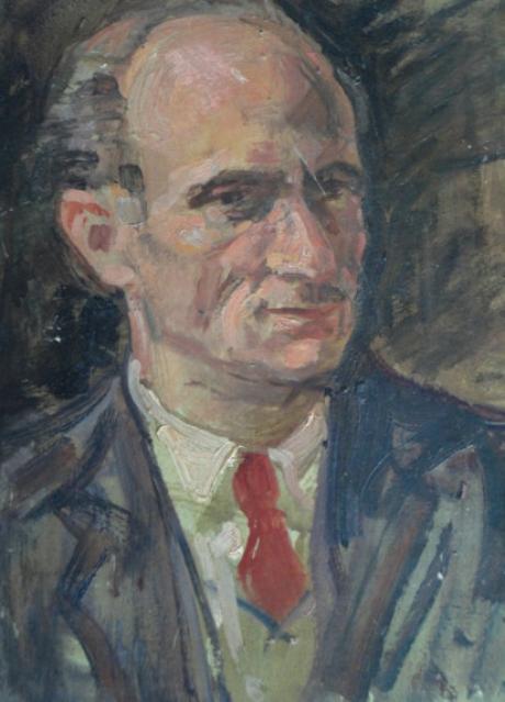 Armando Tonello, Ritratto del pittore Italo Bassani, 1938